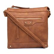 Lilley Womens Tan Distressed Look Handbag (Click For Details)