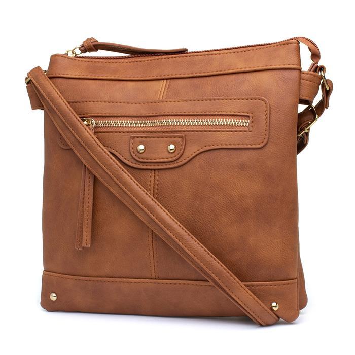 Lilley Womens Tan Distressed Look Handbag