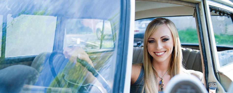 Girl driving image