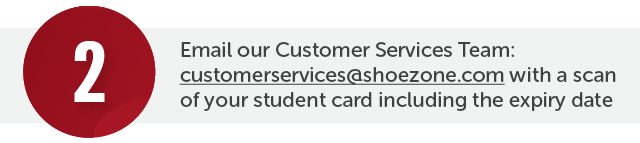 Contact our Customer Services Team via email providing us with: a scan or photo of your student card and the expiry date of your NUS/Matriculation card