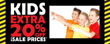 Kids Extra 20% off All Sale Prices