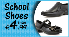 School Shoes from £4.99