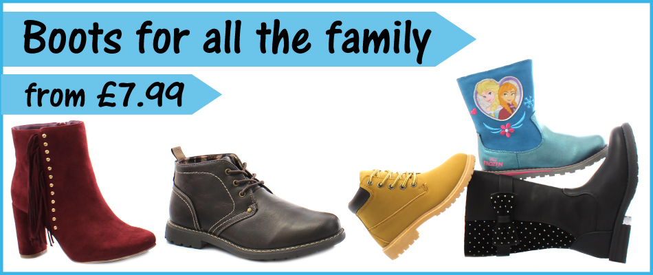 Boots for all the family from £7.99