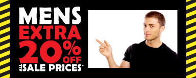 Mens Extra 20% off All Sale Prices