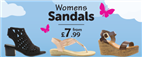 Womens Sandals from £7.99