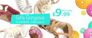 Girls Summer Sandals from only £9.99
