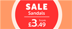 Sale Sandals from £3.49