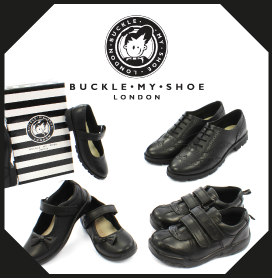 Buckle My Shoe Kids School Shoes