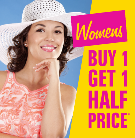 Womens Buy One Get One Half Price