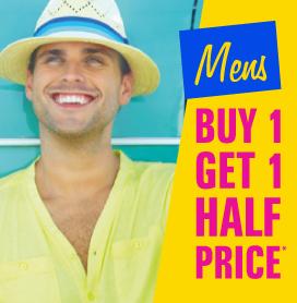 Mens Buy One Get One Half Price
