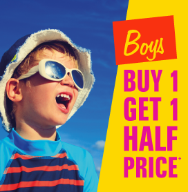 Boys Buy One Get One Half Price