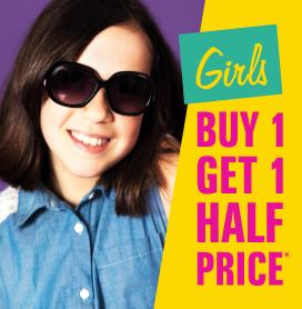 Girls Buy One Get One Half Price
