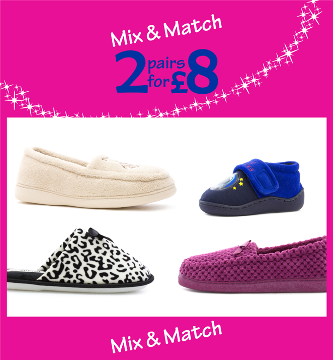 Mix & Match 2 pairs for £8