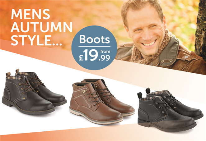 Mens Autumn Style... Boots from £19.99