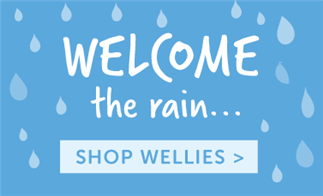 Welcome the rain... Shop Wellies