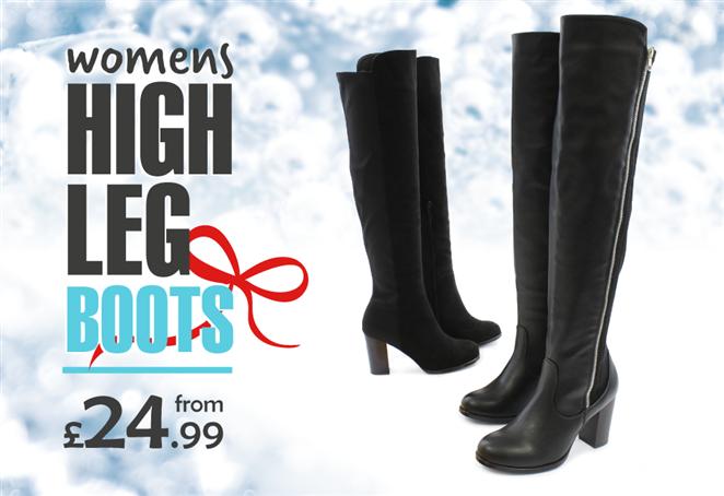 Womens High Leg Boots from £24.99