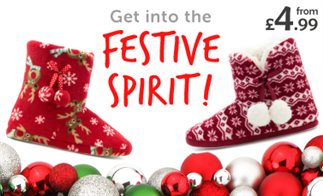 Get into the Festive Spirit! from £4.99