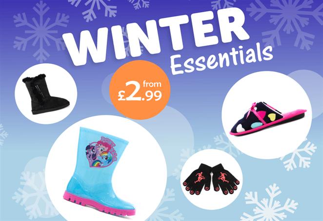 Winter Essentials from £2.99