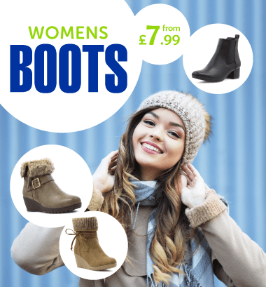 Womens Boots from £7.99