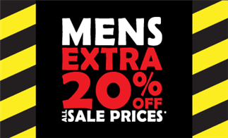Mens Extra 20% off All Sale Prices*