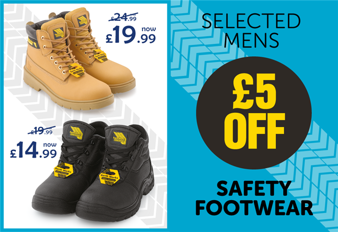 £5 off selected Mens Safety Footwear