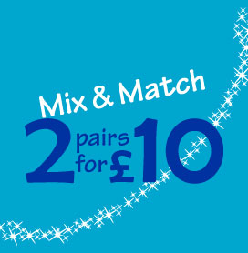Mix & Match 2 Pairs for £10