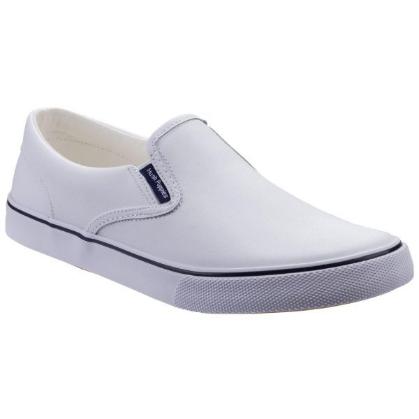 Hush Puppies Womens Byanca Slip On Canvas in White