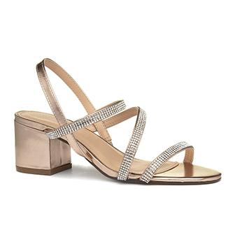 Truffle Hallie Womens Rose Gold Heeled Sandal