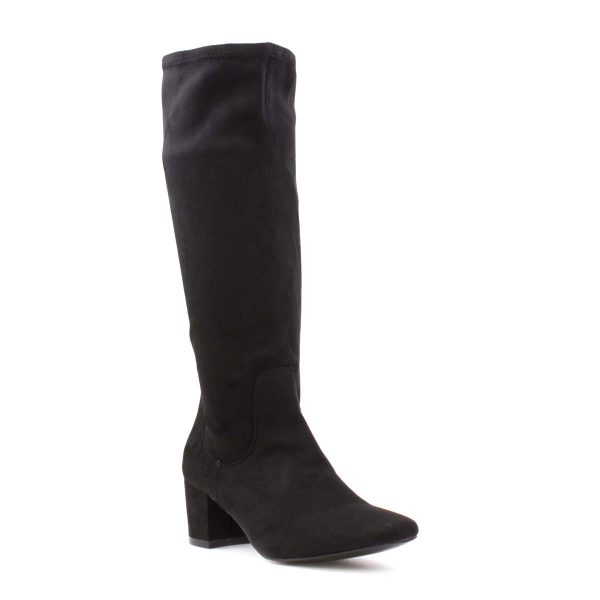 Comfort Plus Scarlett Womens Black Heeled Boot