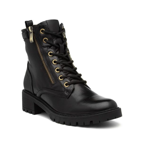 Xti Womens Black Lace Up Ankle Boot