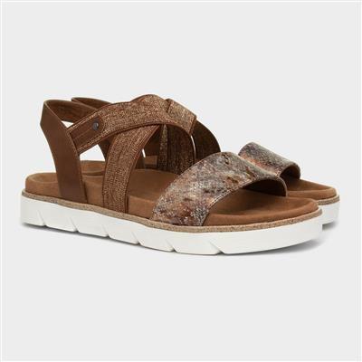 Relife Womens Brown & Metallic Sandal