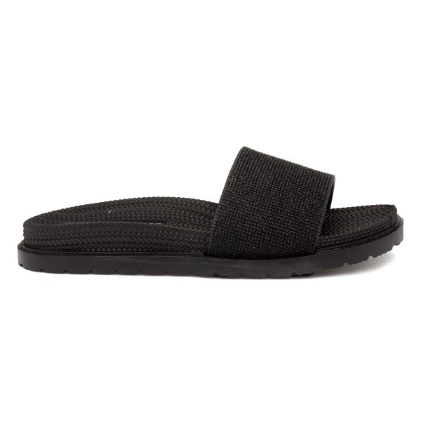 Heavenly Feet Dune Womens Black Mule Sandals
