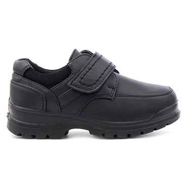 Trux Kids Black Easy Fasten Shoe