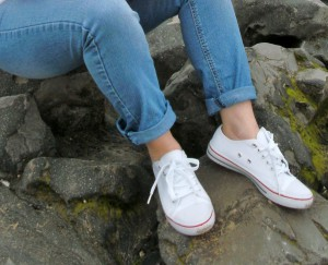 Womens lace up canvas