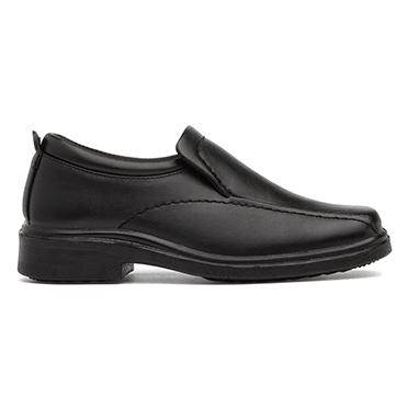 Beckett Boys Black Slip On School Shoe