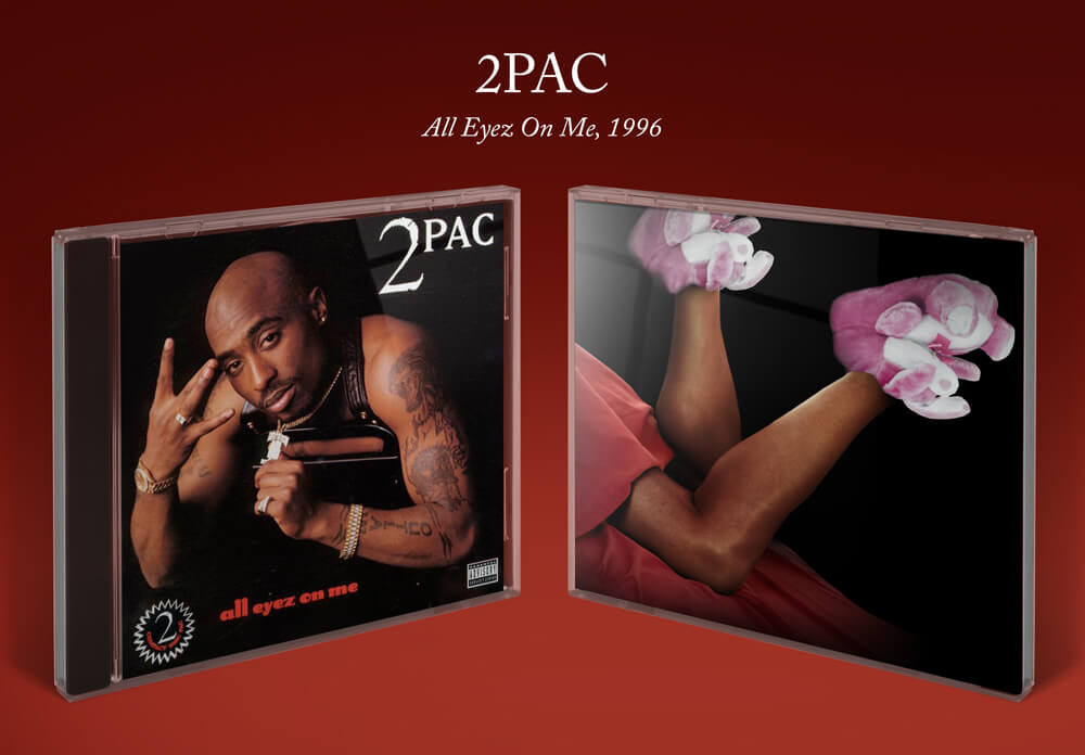 2Pac All Eyez on Me album cover with bunny slippers