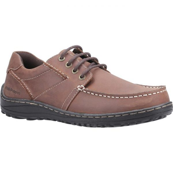 Hush Puppies Theo Lace Up Moccasin in Brown