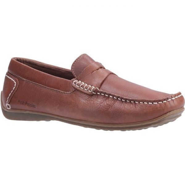 Hush Puppies Mens Roscoe Slip On Shoe in Brown