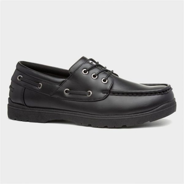 Urban Territory Mens Black Lace Up Shoe