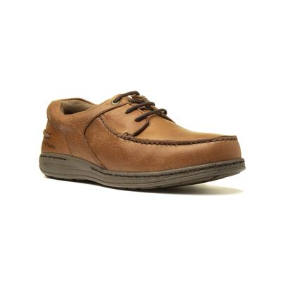 Hush Puppies Winston Mens Leather Shoe in Tan