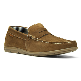 Catesby Tan Lace Up Loafer