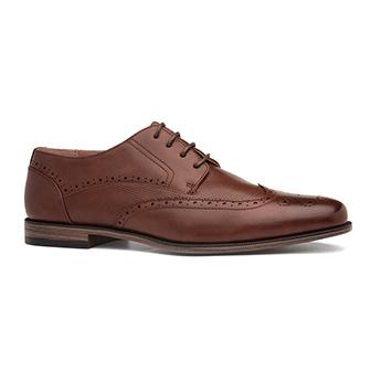 Beckett Mens Brown Lace Up Brogue Shoe