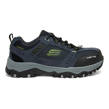 Skechers Greetah Unisex Navy Lace Up Safety Shoe