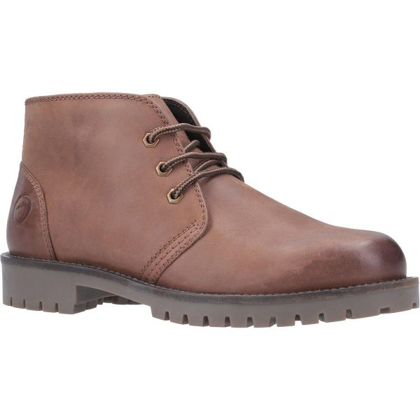 Cotswold Mens Stroud Lace Up Shoe Boot in Tan