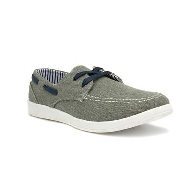 Dr Keller Lincoln Mens Grey Lace Up Canvas