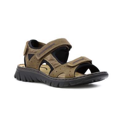 Rieker Men's Brown Triple Riptape Sporty Sandal