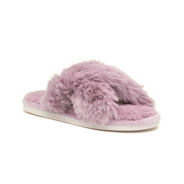 Heavenly Feet Wanda Womens Lilac Mule Slipper