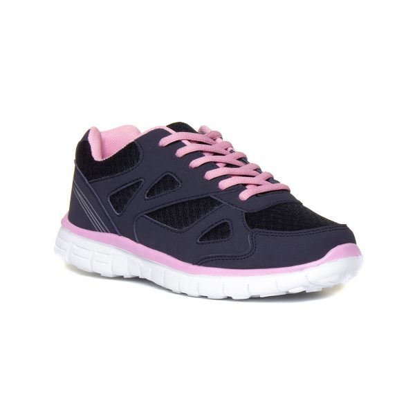 XL Womens Navy & Pink Womens Trainer