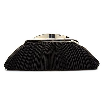 Lunar Sienna Black Clutch Bag