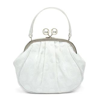 Ruby Shoo Arco White Polka Dot Handbag